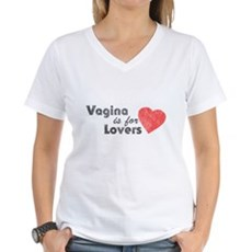 Vagina is for Lovers Womens V-Neck T-Shirt