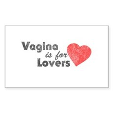 Vagina is for Lovers Rectangle Sticker