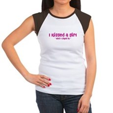 I Kissed a Girl Womens Cap Sleeve T-Shirt