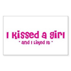 I Kissed a Girl Rectangle Sticker
