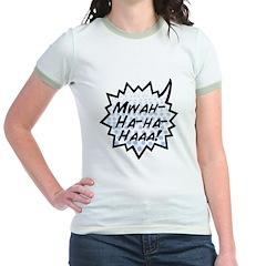 'Evil Laugh' Jr. Ringer T-Shirt