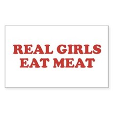 Real Girls Eat Meat Rectangle Sticker