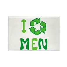 I Recycle Men Rectangle Magnet