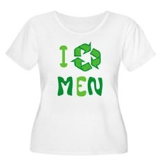 I Recycle Men Plus Size Scoop Neck Shirt