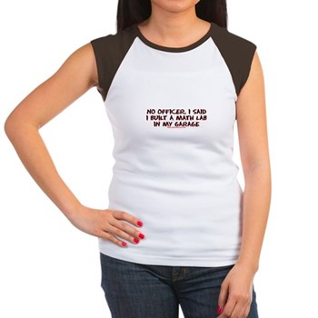 No Officer I Built A Math Lab Women's Cap Sleeve T | Gifts For A Geek | Geek T-Shirts