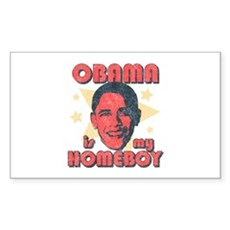 Obama is my Homeboy Rectangle Sticker