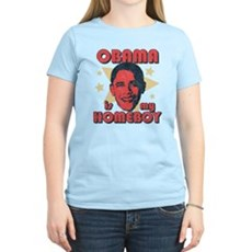 Obama is my Homeboy Womens Light T-Shirt
