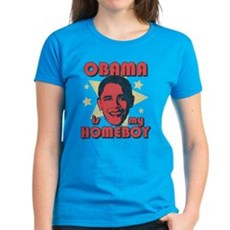Obama is my Homeboy Womens T-Shirt