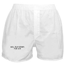 Will Buy Drinks for Sex Boxer Shorts