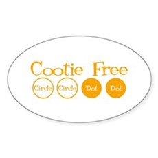 Cootie Free Oval Sticker