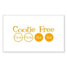 Cootie Free Rectangle Sticker