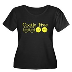 Cootie Free Womens Plus Size Scoop Neck Dark T-Sh