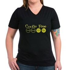 Cootie Free Womens V-Neck T-Shirt