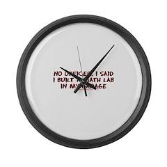 No Officer I Built A Math Lab Large Wall Clock