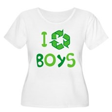 I Recycle Boys Womens Plus Size Scoop Neck T-Shir