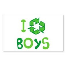 I Recycle Boys Rectangle Sticker