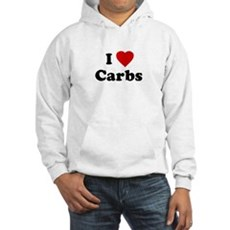 I Love [Heart] Carbs Hooded Sweatshirt
