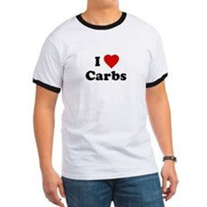 I Love [Heart] Carbs Ringer T