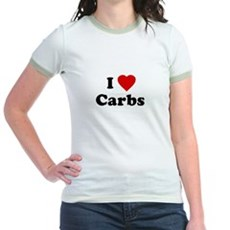I Love [Heart] Carbs Jr Ringer T-Shirt