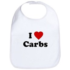 I Love [Heart] Carbs Bib