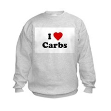 I Love [Heart] Carbs Kids Sweatshirt