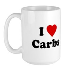 I Love [Heart] Carbs Large Mug