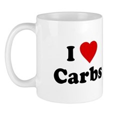 I Love [Heart] Carbs Mug