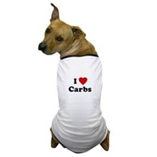 I Love [Heart] Carbs Dog T-Shirt