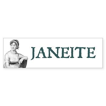 Jane Austen JANEITE Bumper Sticker