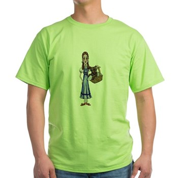Whimsical Dorothy and Toto Green T-Shirt | Wonderful Wizard of Oz Clothing | Wizard of Oz T-Shirts