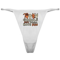 Ghouls Just Wanna Have Fun Classic Thong