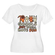 Ghouls Just Wanna Have Fun Womens Plus Size Scoop