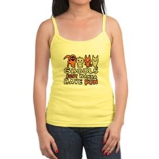 Ghouls Just Wanna Have Fun Jr Spaghetti Tank