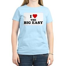 I Love [Heart] the Big Easy Womens Pink T-Shirt