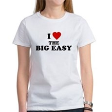 I Love [Heart] the Big Easy Womens T-Shirt