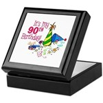 It's My 90th Birthday (Party Hats) Keepsake Box