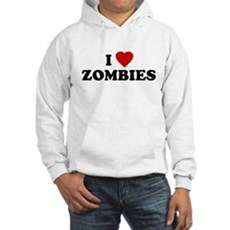 I Love [Heart] Zombies Hooded Sweatshirt