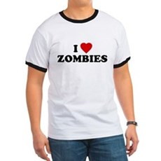 I Love [Heart] Zombies Ringer T