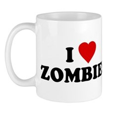 I Love [Heart] Zombies Mug