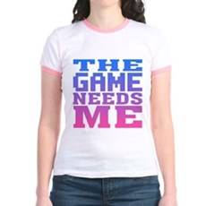 The Game Needs Me Jr Ringer T-Shirt