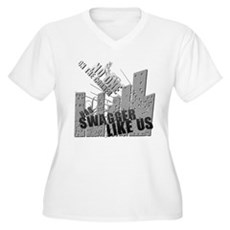 No One On The Corner Has Swag Womens Plus Size V-