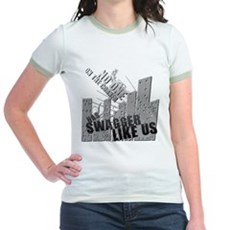 No One On The Corner Has Swag Jr Ringer T-Shirt