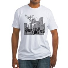 No One On The Corner Has Swag Fitted T-Shirt