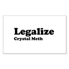 I Love Crystal Meth Rectangle Sticker