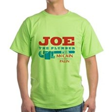 Joe the Plumber for McCain Green T-Shirt