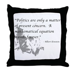 Math vs. Politics Throw Pillow