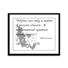 Math vs. Politics Framed Panel Print