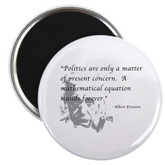 "Math vs. Politics 2.25"" Magnet (10 pack)"