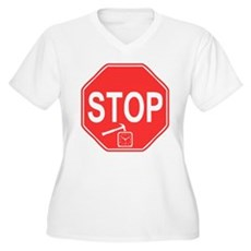 Stop! Hammer Time! Womens Plus Size V-Neck T-Shir