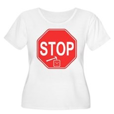 Stop! Hammer Time! Womens Plus Size Scoop Neck T-